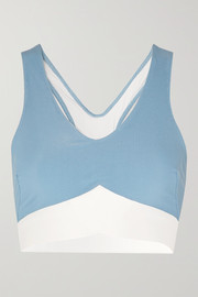 Heroine Sport Two-tone ribbed stretch sports bra