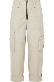 Crypt cropped cotton-twill cargo pants