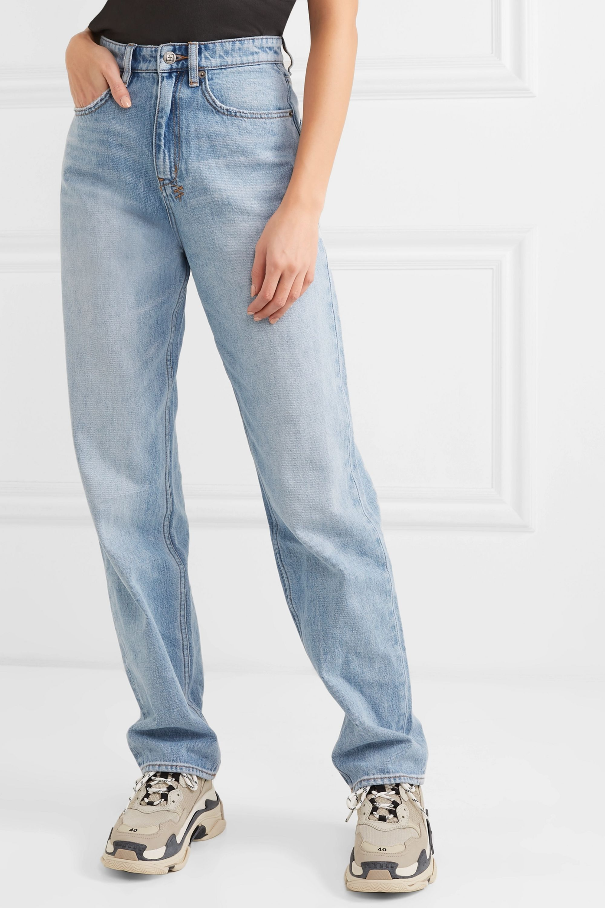 Ksubi Playback high-rise straight-leg jeans