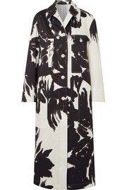 Printed cotton-twill coat