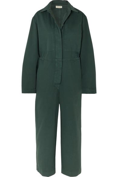 Dries Van Noten Suits Cotton-twill jumpsuit