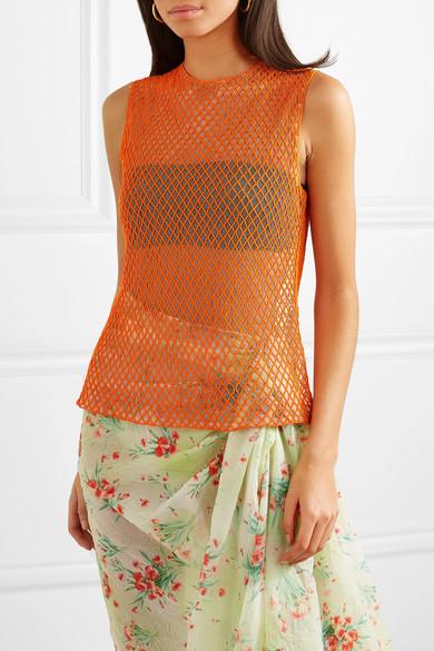 Dries Van Noten Tops Bead-embellished mesh top