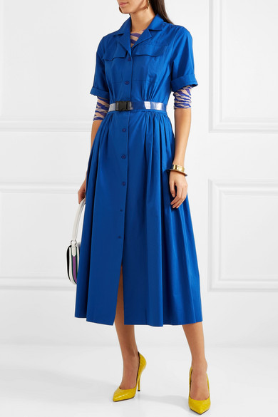 Dries Van Noten Dress Pleated cotton-piqué midi dress