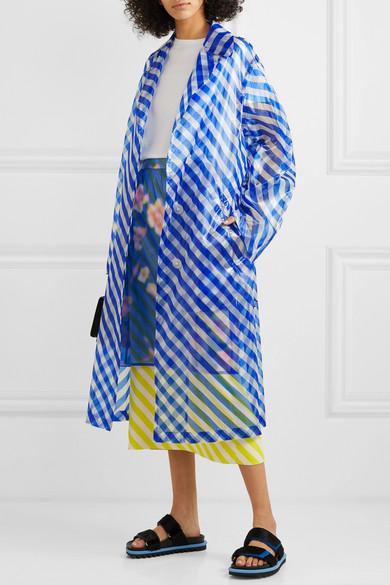 Dries Van Noten Coats Striped organza trench coat