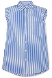 Dries Van Noten Striped cotton-poplin shirt