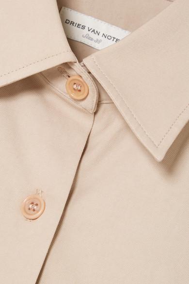 Dries Van Noten Shirts Belted cotton-poplin shirt