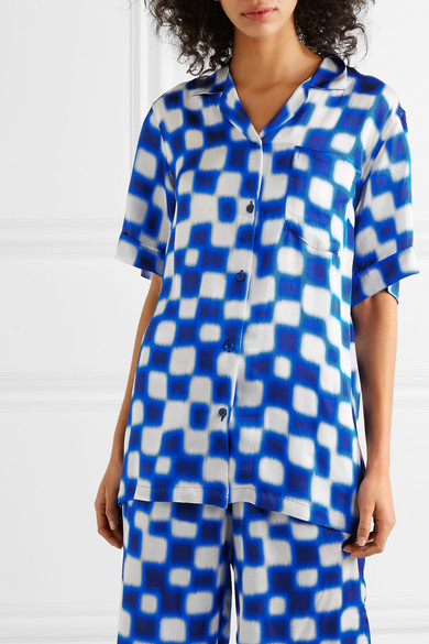 Dries Van Noten Shirts Printed crepe de chine shirt