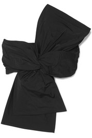 Dries Van Noten Knotted taffeta bandeau top