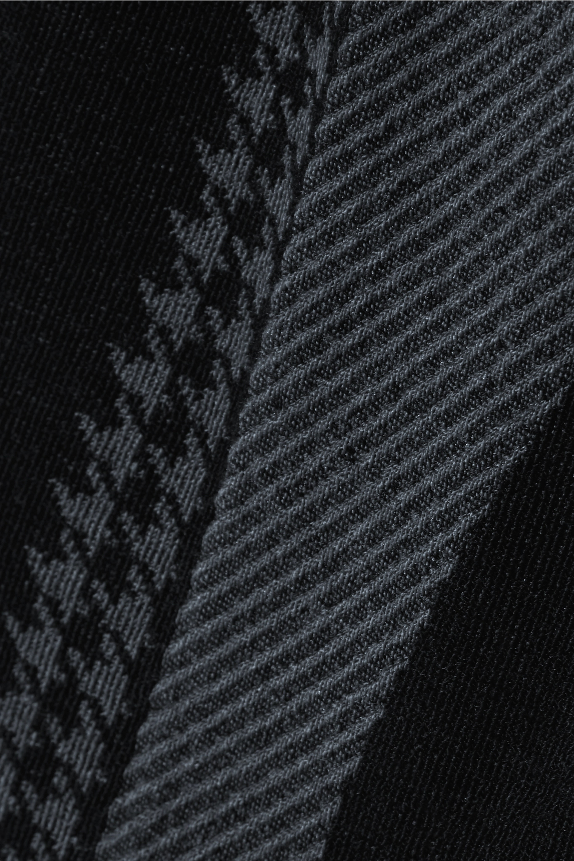 Nagnata + The Woolmark Company Suki houndstooth technical stretch-knit shorts