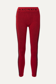 + The Woolmark Company Laya intarsia technical stretch-knit leggings