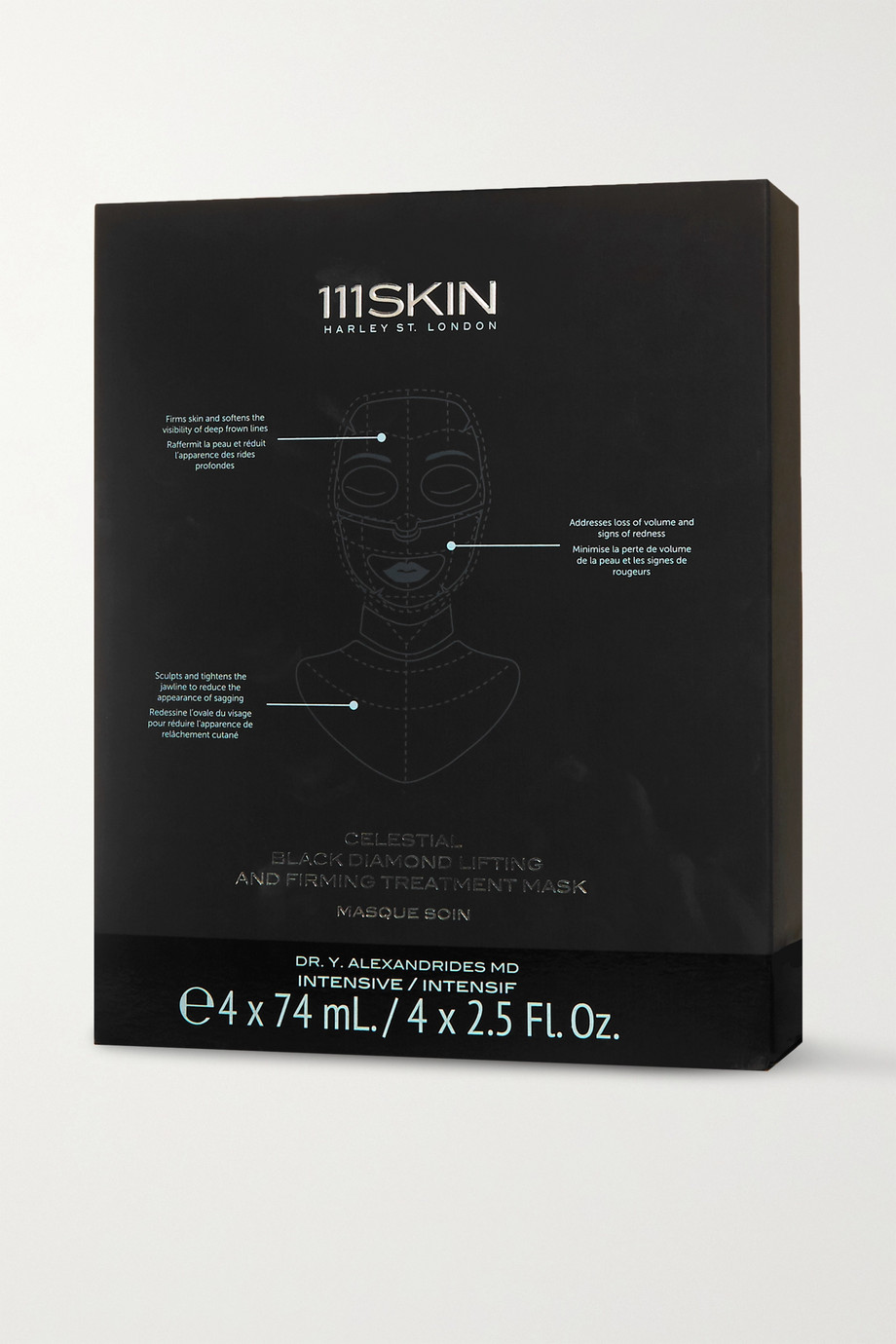 111SKIN Celestial Black Diamond Lifting and Firming Mask, 4 x 74ml