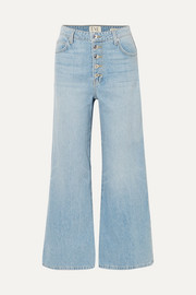Charlotte cropped high-rise wide-leg jeans