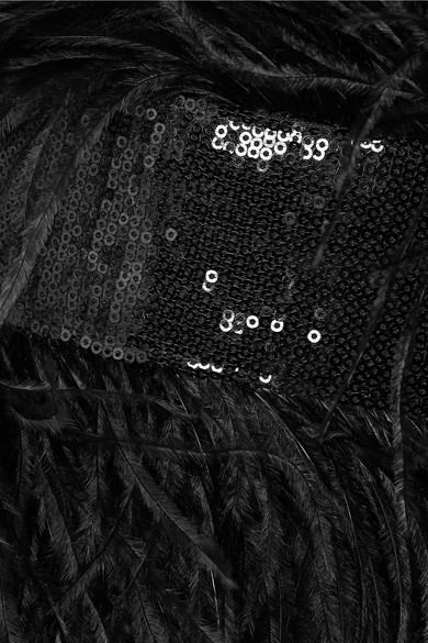 720045bd92d9 SemSem. Feather and sequin-embellished devoré-organza jumpsuit. £1