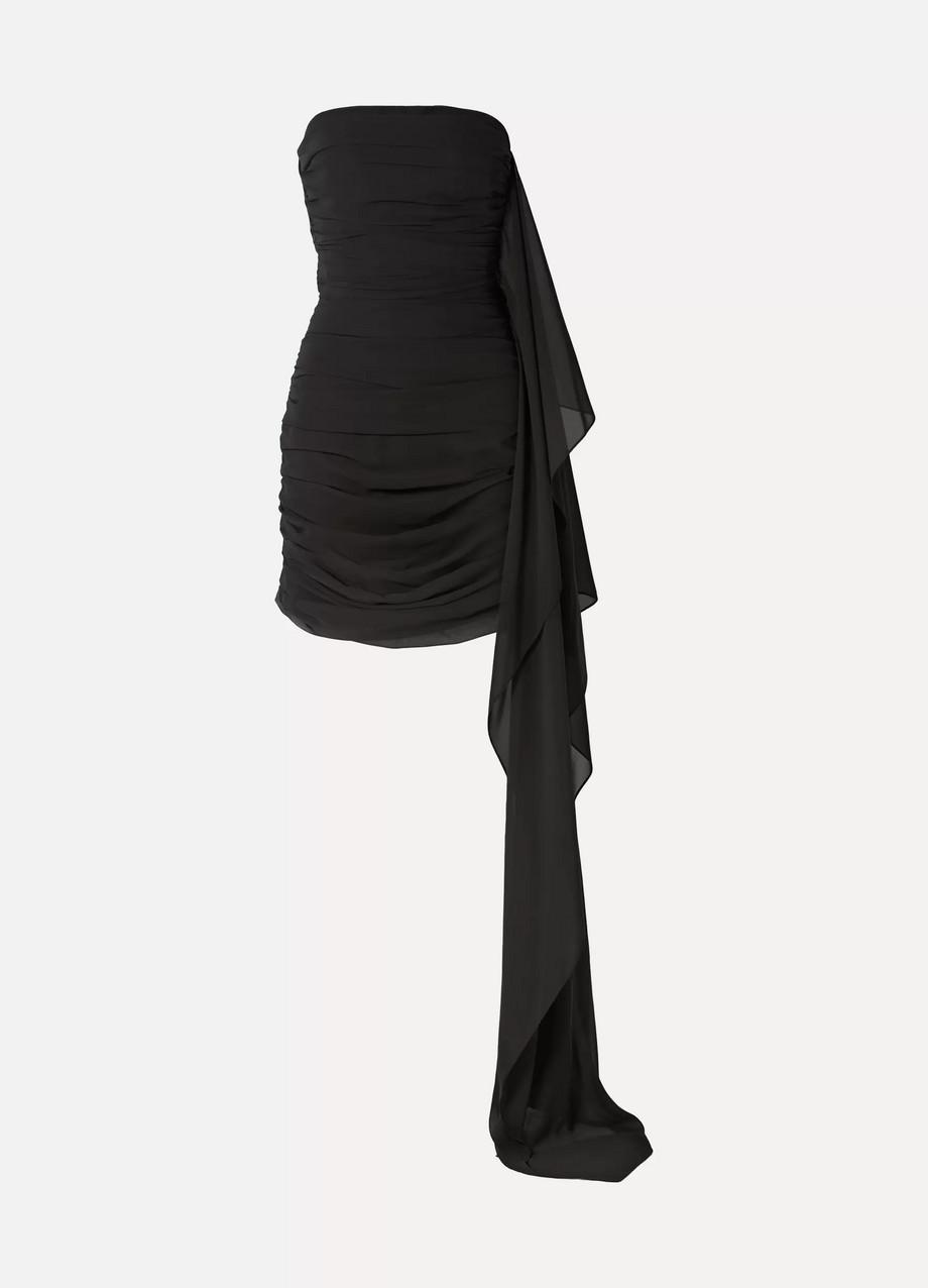 SemSem | Strapless draped ruched chiffon mini dress | NET-A-PORTER.COM