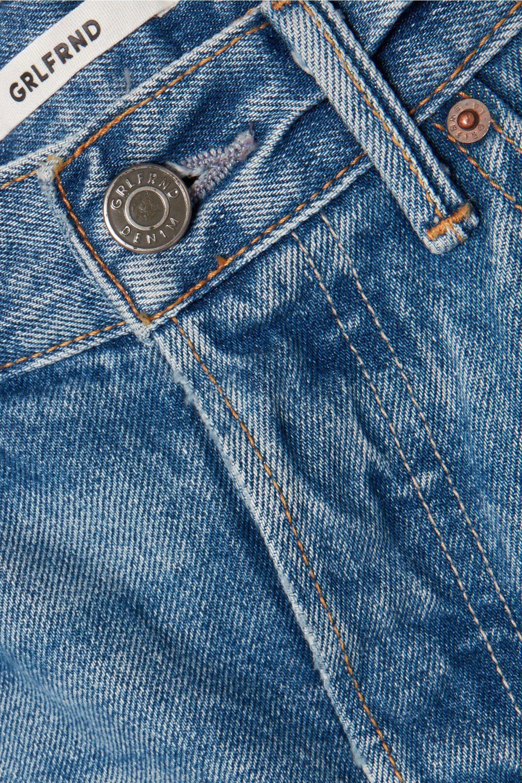 GRLFRND Beverly frayed denim shorts