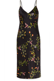 L'Agence Jodie floral-print silk crepe de chine dress
