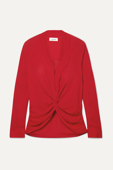 L'agence MARIPOSA TWISTED SILK CREPE DE CHINE BLOUSE
