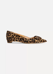 Rupert Sanderson Aga leopard-print calf hair point-toe flats