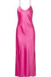 Rosemary silk-satin midi dress