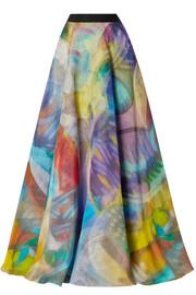 8647463f78 Mary Katrantzou | Camilla belted printed seersucker maxi skirt | NET ...