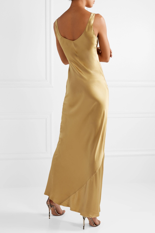 Nili Lotan Bazile silk-satin maxi dress