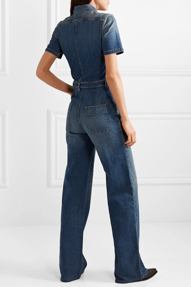 Nili Lotan Suits Cannes denim jumpsuit