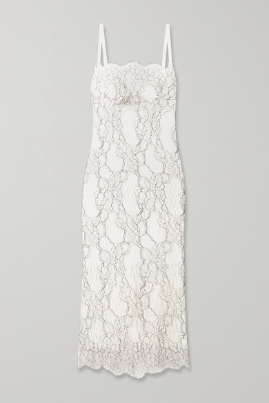 Dion Lee Lory corded-lace and cutout neoprene dress
