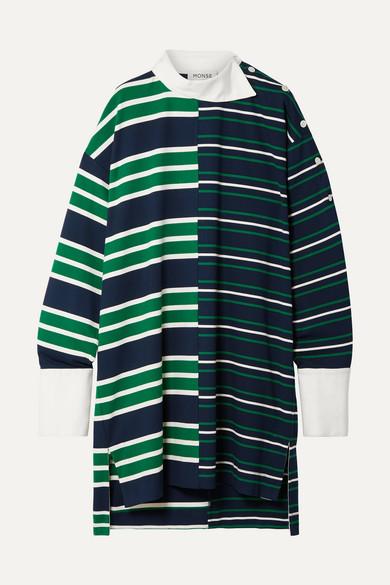 Monse Dresses Oversized asymmetric striped stretch-jersey mini dress