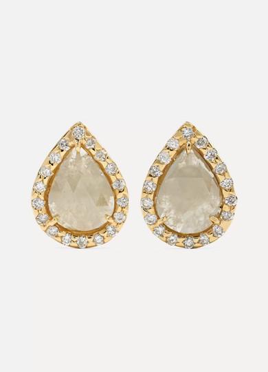 KIMBERLY MCDONALD 18-Karat Gold Diamond Earrings