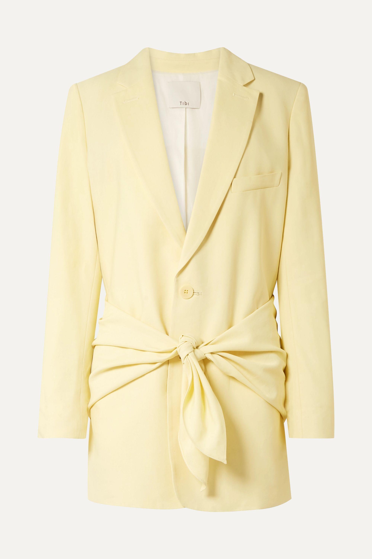 Oversized twill blazer