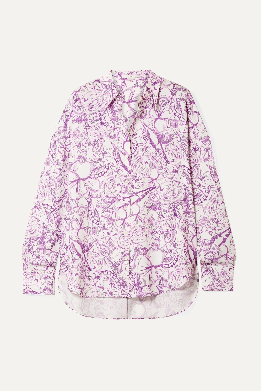 Isa printed crepe de chine shirt