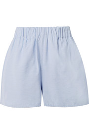 Tibi Chambray shorts