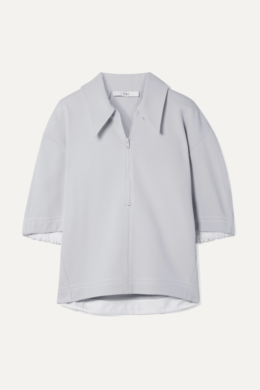 Frisse oversized ponte polo shirt