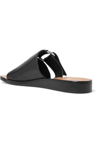 rag & bone | Arc buckled leather slides | NET A PORTER.COM