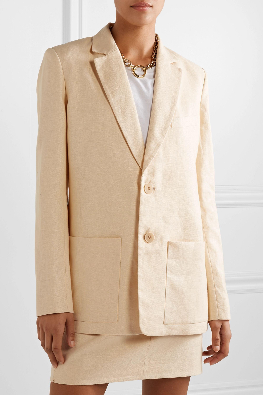 Tibi 大廓形亚麻西装外套