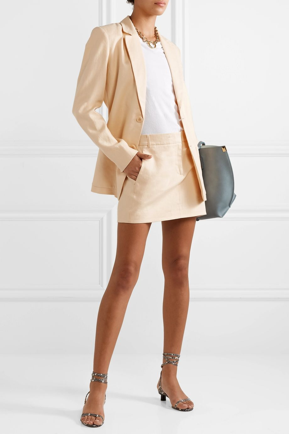Tibi Linen mini skirt