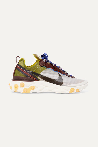 new product 90baa 8ff5a Nike. React Element 87 ripstop, leather and suede sneakers