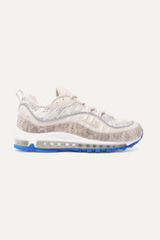 Nike Air Max 98 printed leather and mesh sneakers
