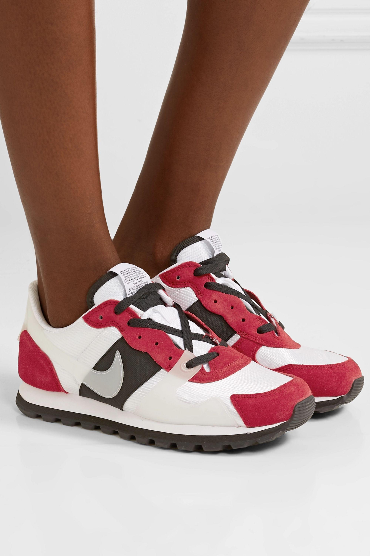 elastic-trimmed mesh sneakers   Nike