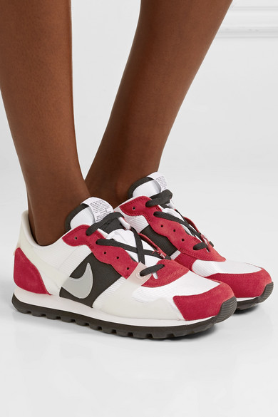Nike Sneakers V-Love O.X. suede, PVC and elastic-trimmed mesh sneakers