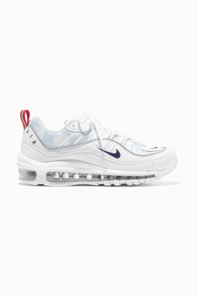NIKE | Nike - Air Max 98 Mesh And Faux Leather Sneakers - White | Goxip