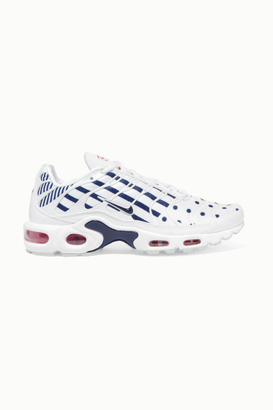 NIKE | Nike - Air Max Plus Printed Neoprene, Faux Leather And Mesh Sneakers - White | Goxip