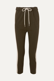 Bassike Striped organic cotton-jersey track pants