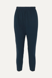 Slouch organic cotton-jersey track pants