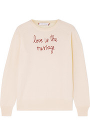Love Is The Message embroidered cashmere sweater