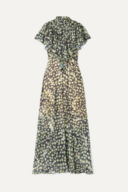 Preen by Thornton Bregazzi Emily ruffled printed georgette gown