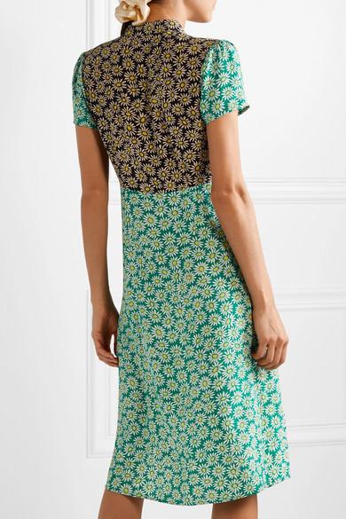 Hvn Dresses Morgan printed silk crepe de chine dress