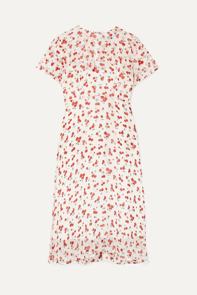 Hvn Dresses Lindy printed crinkled silk-chiffon dress