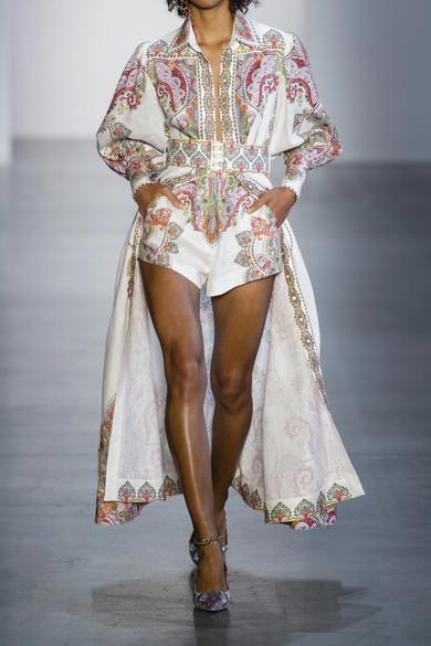 Zimmermann Dresses Ninety-Six belted printed linen maxi dress