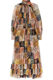 Zimmermann Ninety-Six ruffled printed silk-georgette midi dress